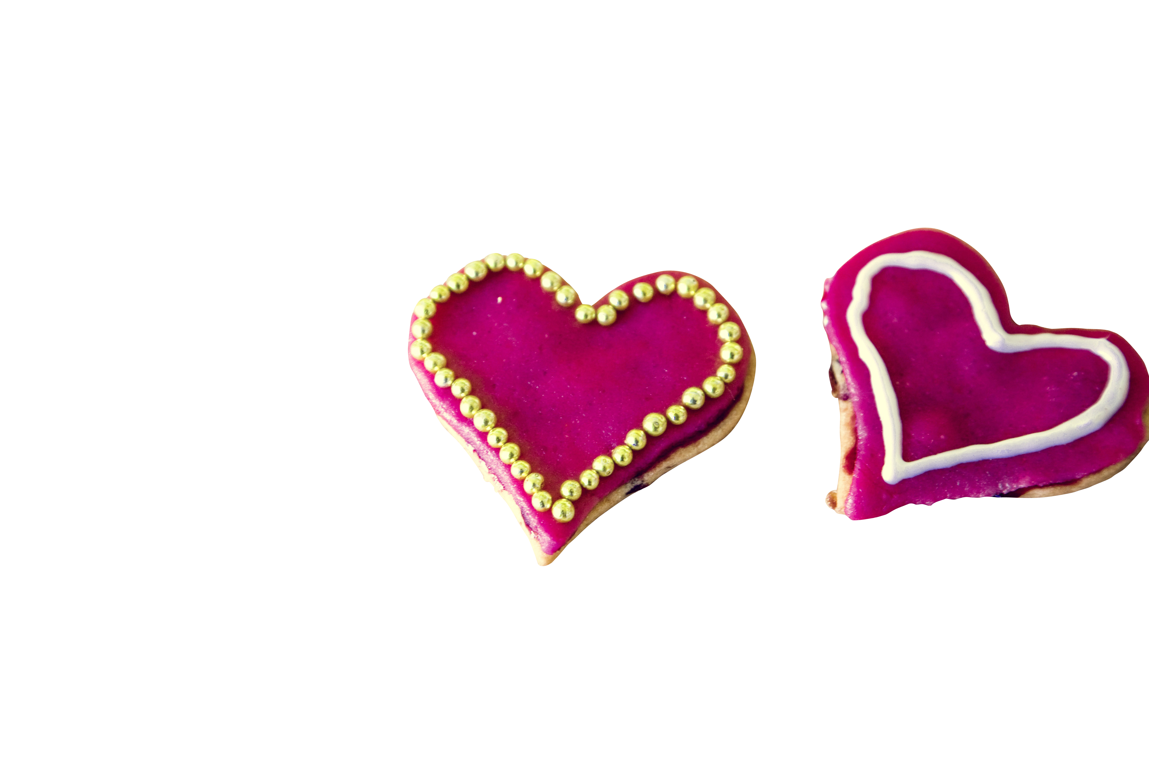 Shocking Pink Heart Creamy Cookie