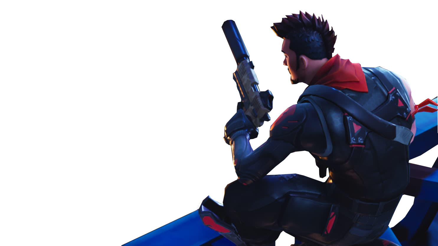 Sitting With A Gun Fortnite Thumbnail Template Png Image Purepng