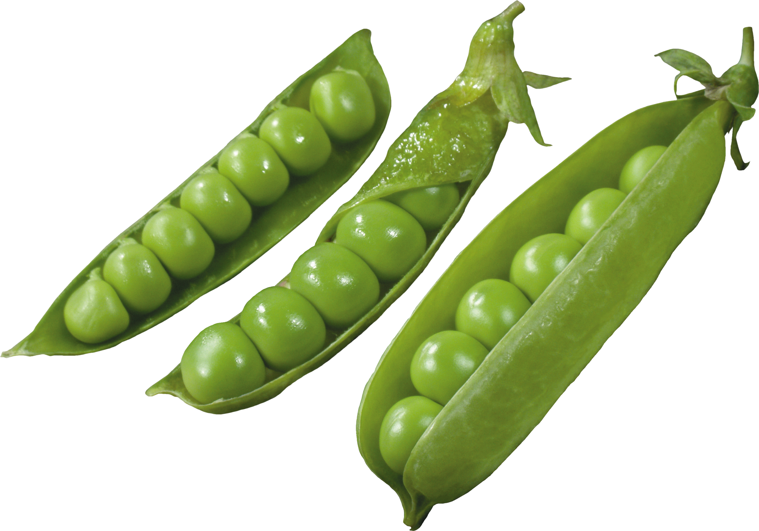 Three Pods with Peas