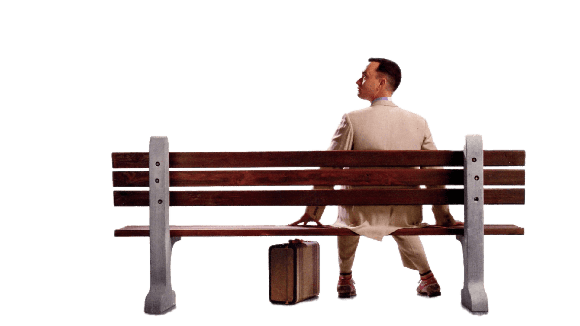 Tom Hanks Sitting on Bank PNG Image