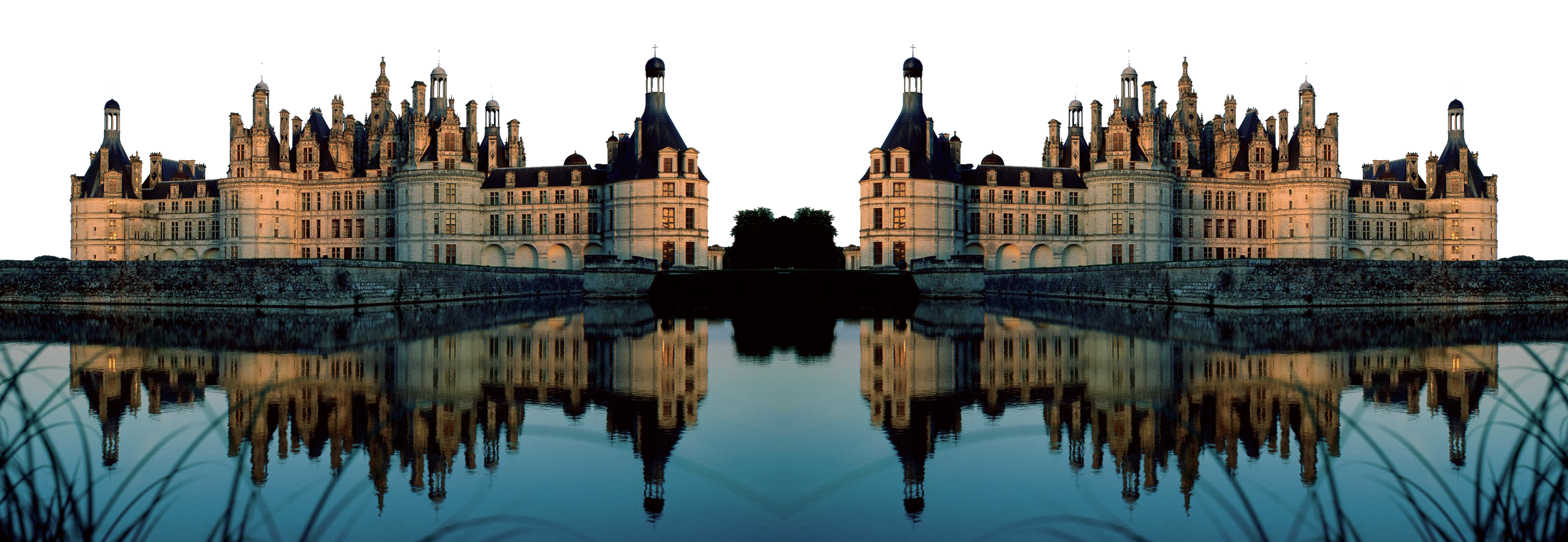 Mirrored Image of a Castle