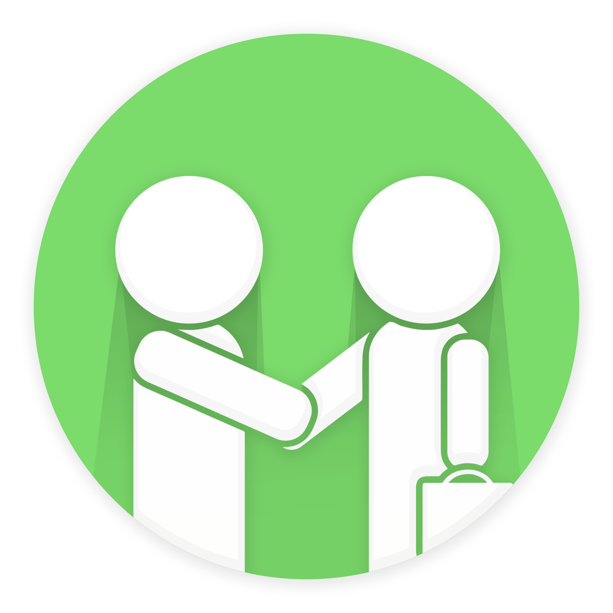 Two Business man Handshake PNG Image