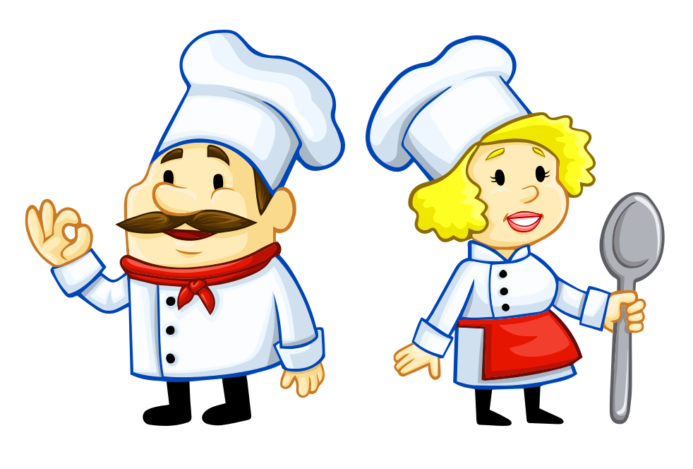 Two Chefs cartoon PNG Image