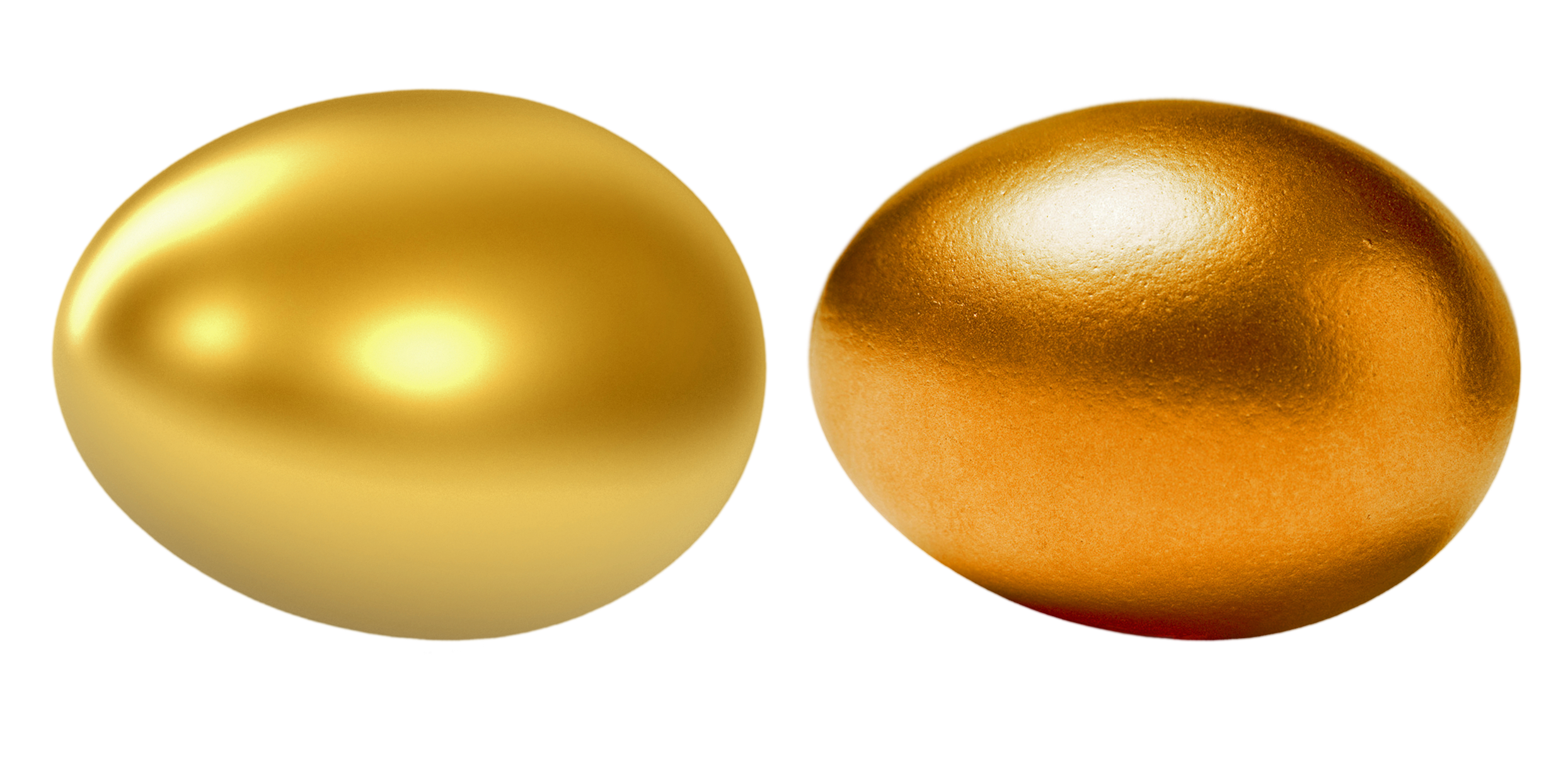Two Golden Eggs PNG Image