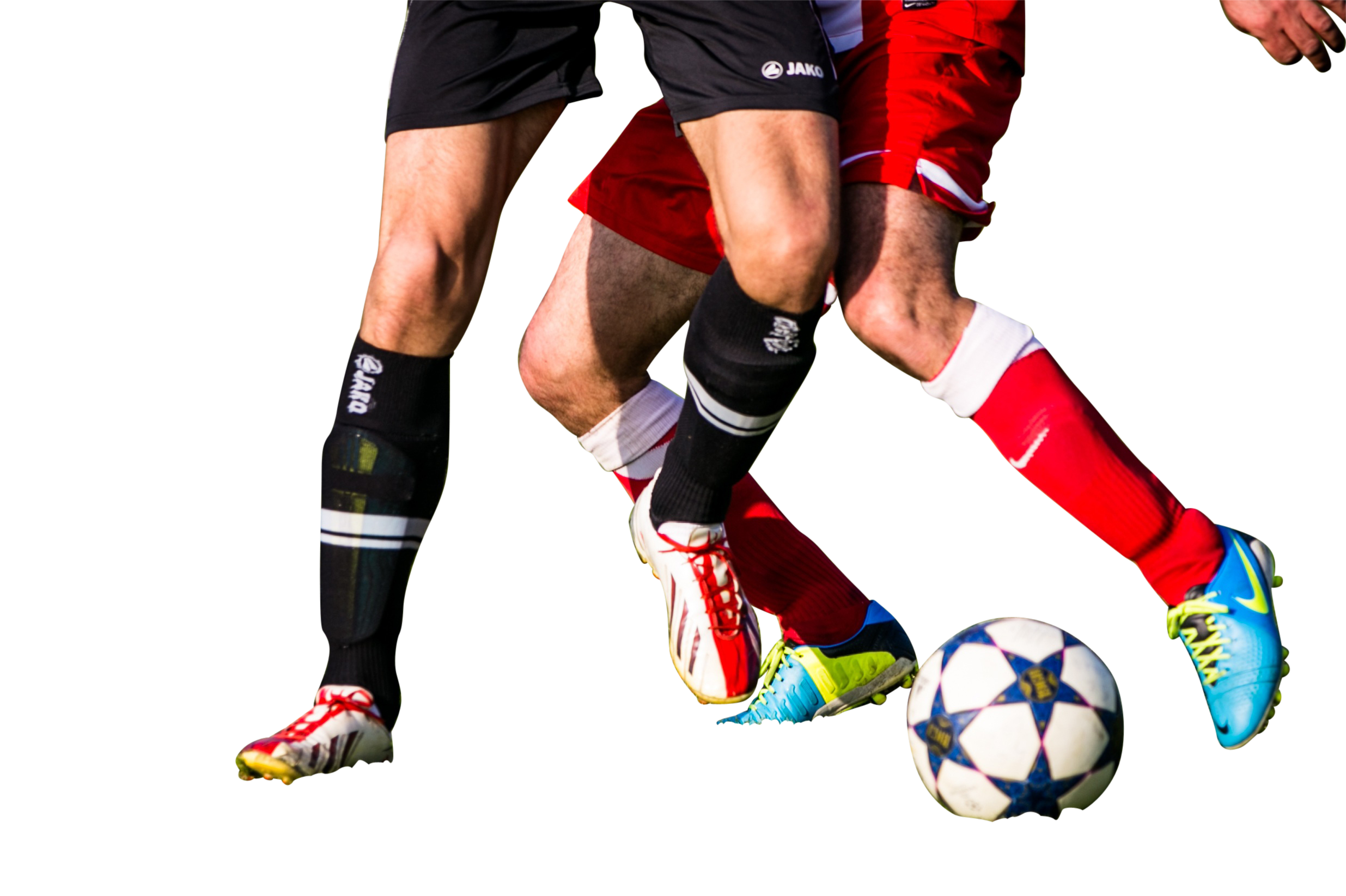 Two Players  Playing Football PNG Image