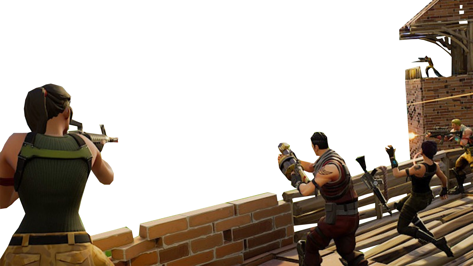 Fighting Fortnite Youtube Thumbnail Template PNG Image