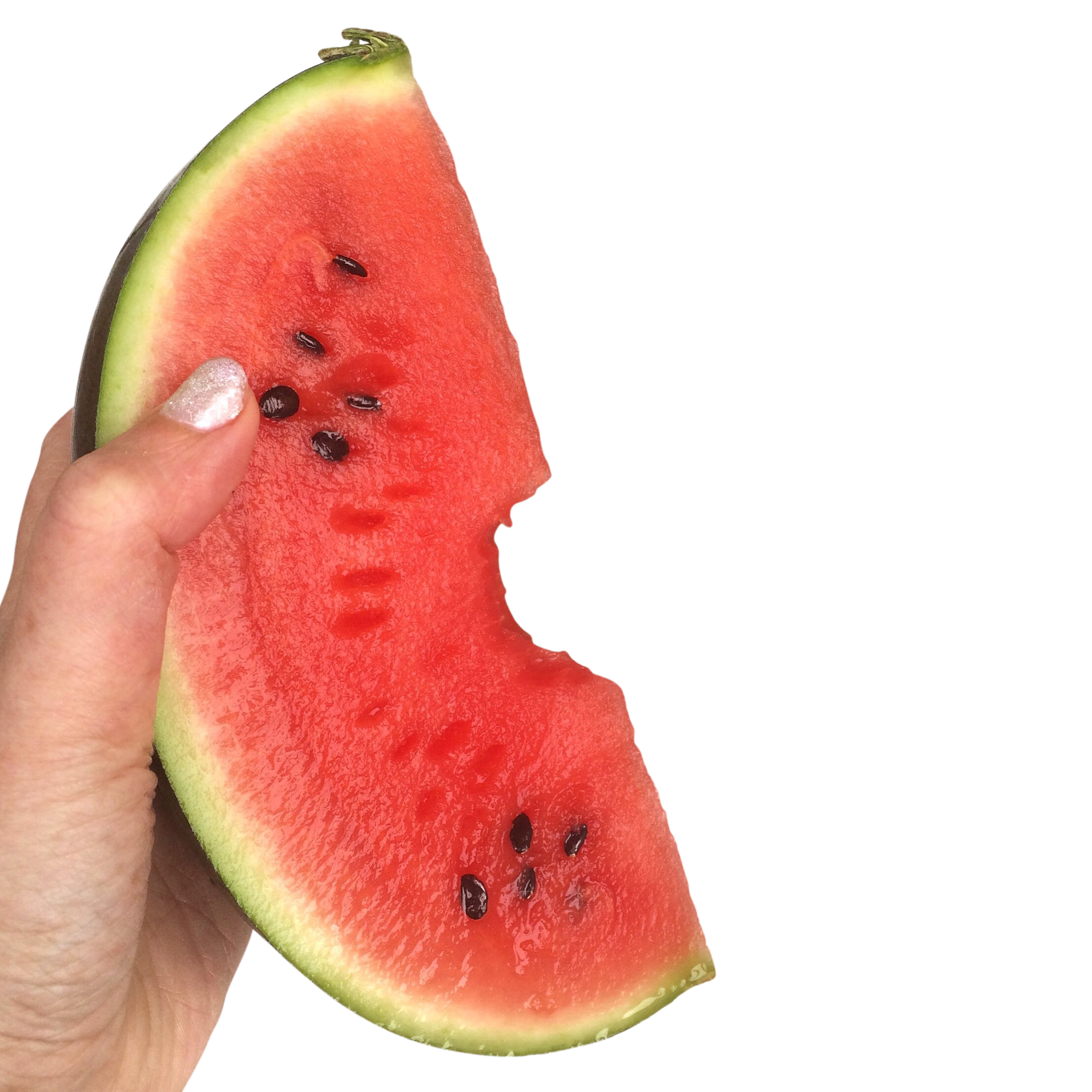 Watermelon in a Hand PNG Image