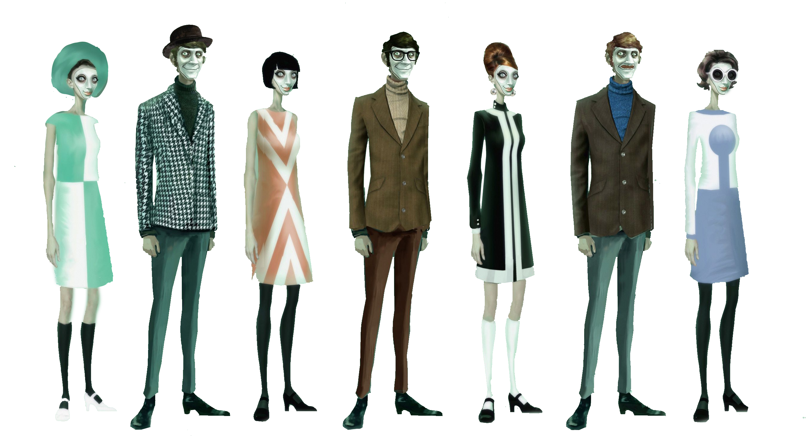 We Happy Few People PNG Image