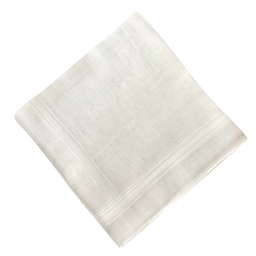 White hand rolled Men Handkerchief PNG Image