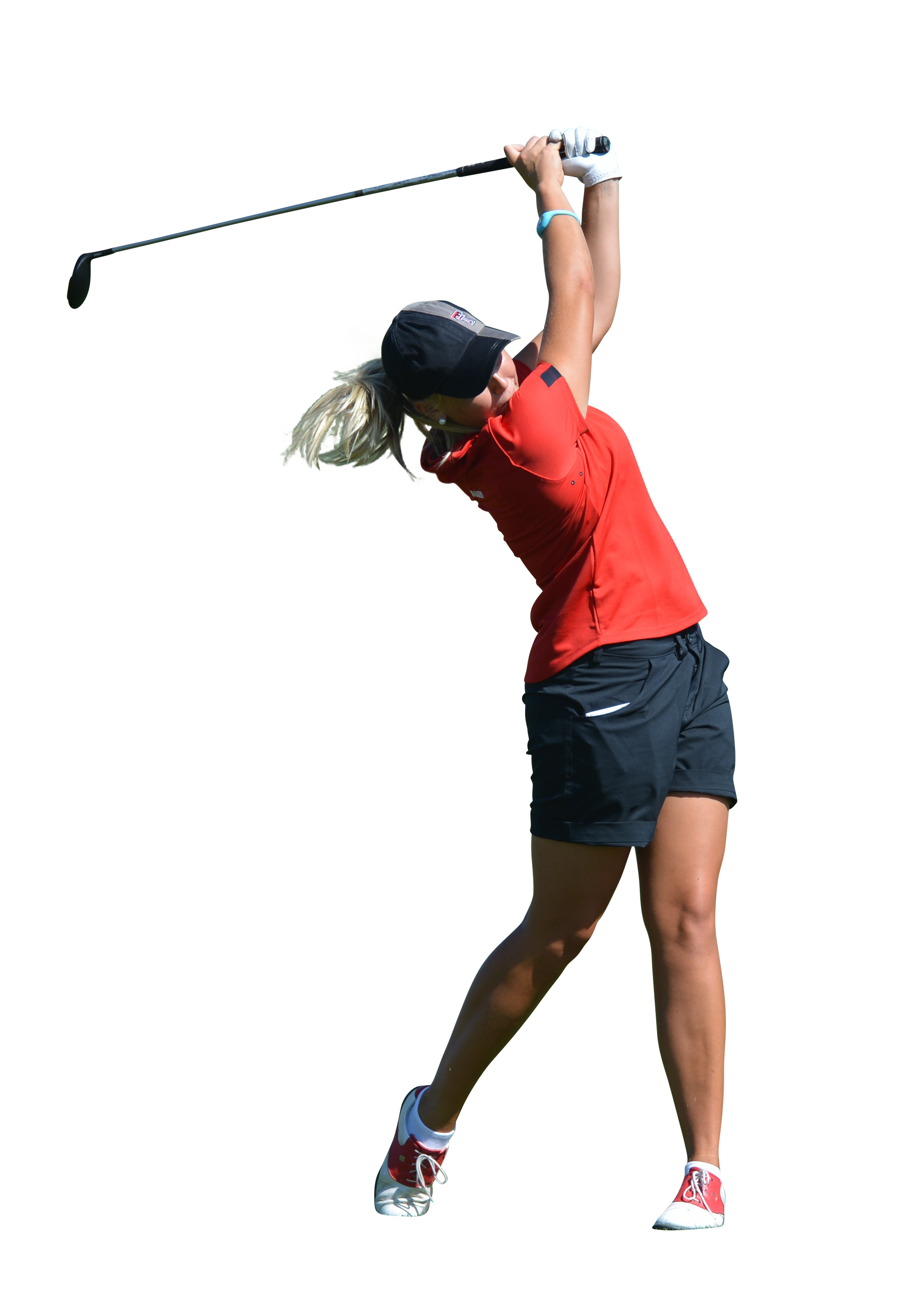 Woman play Golf