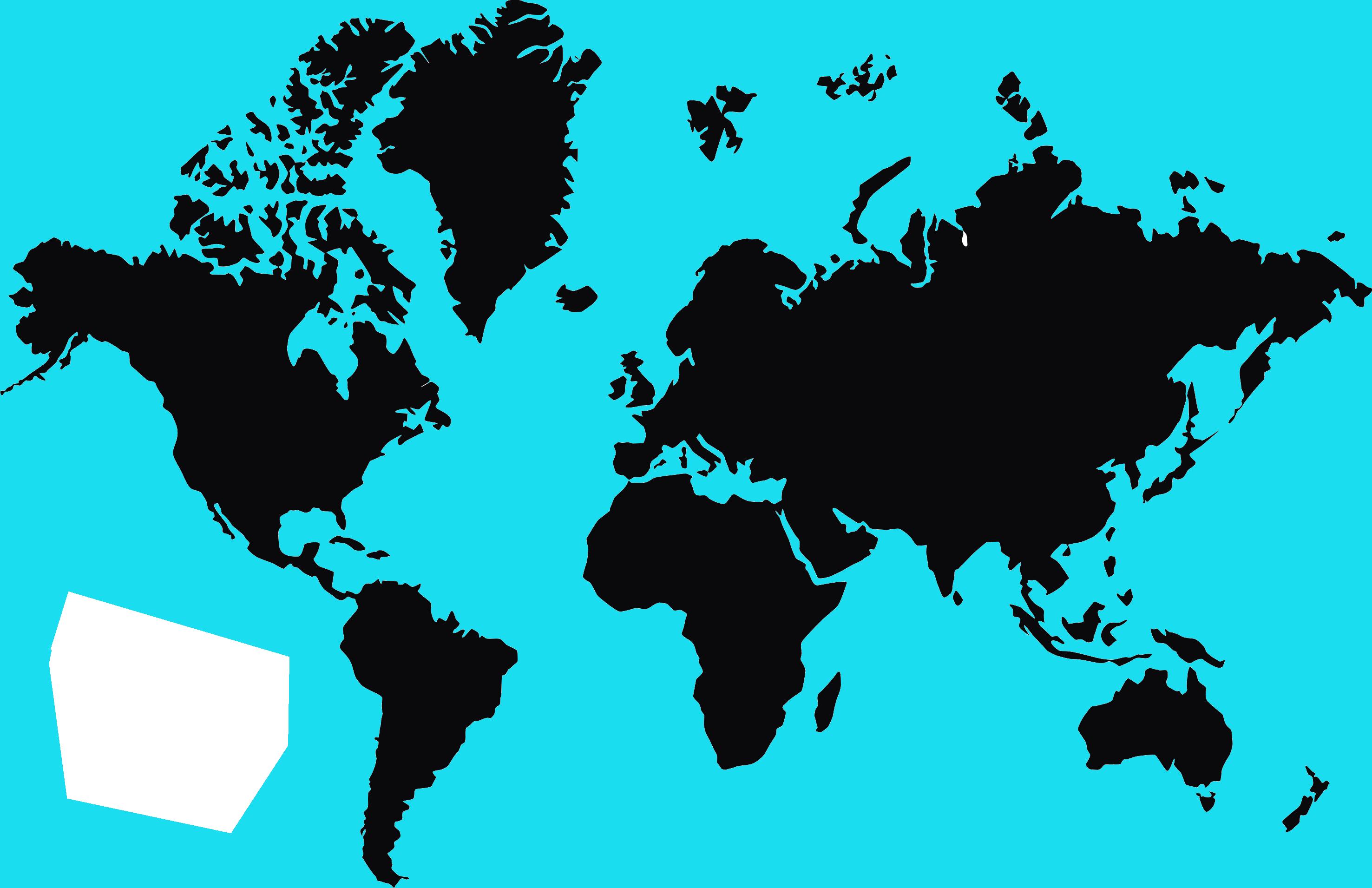 Worlp Map in Black