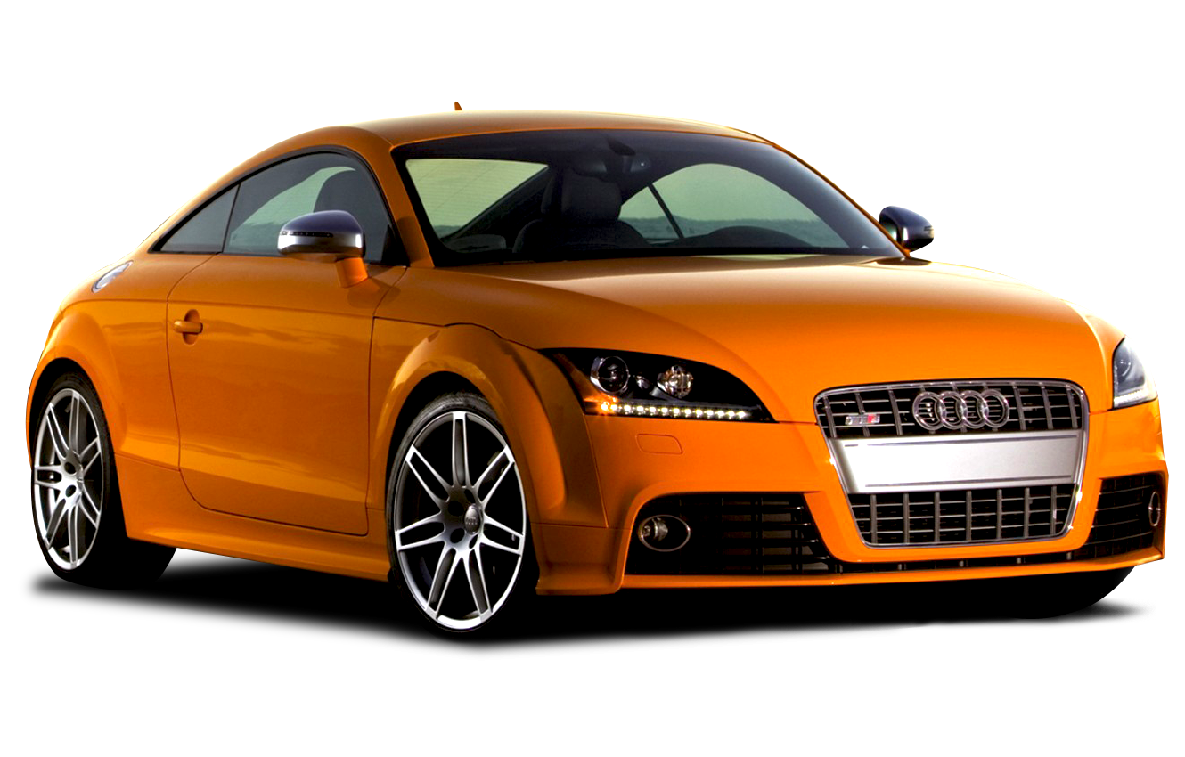 Yellow Audi Luxray Car PNG Image