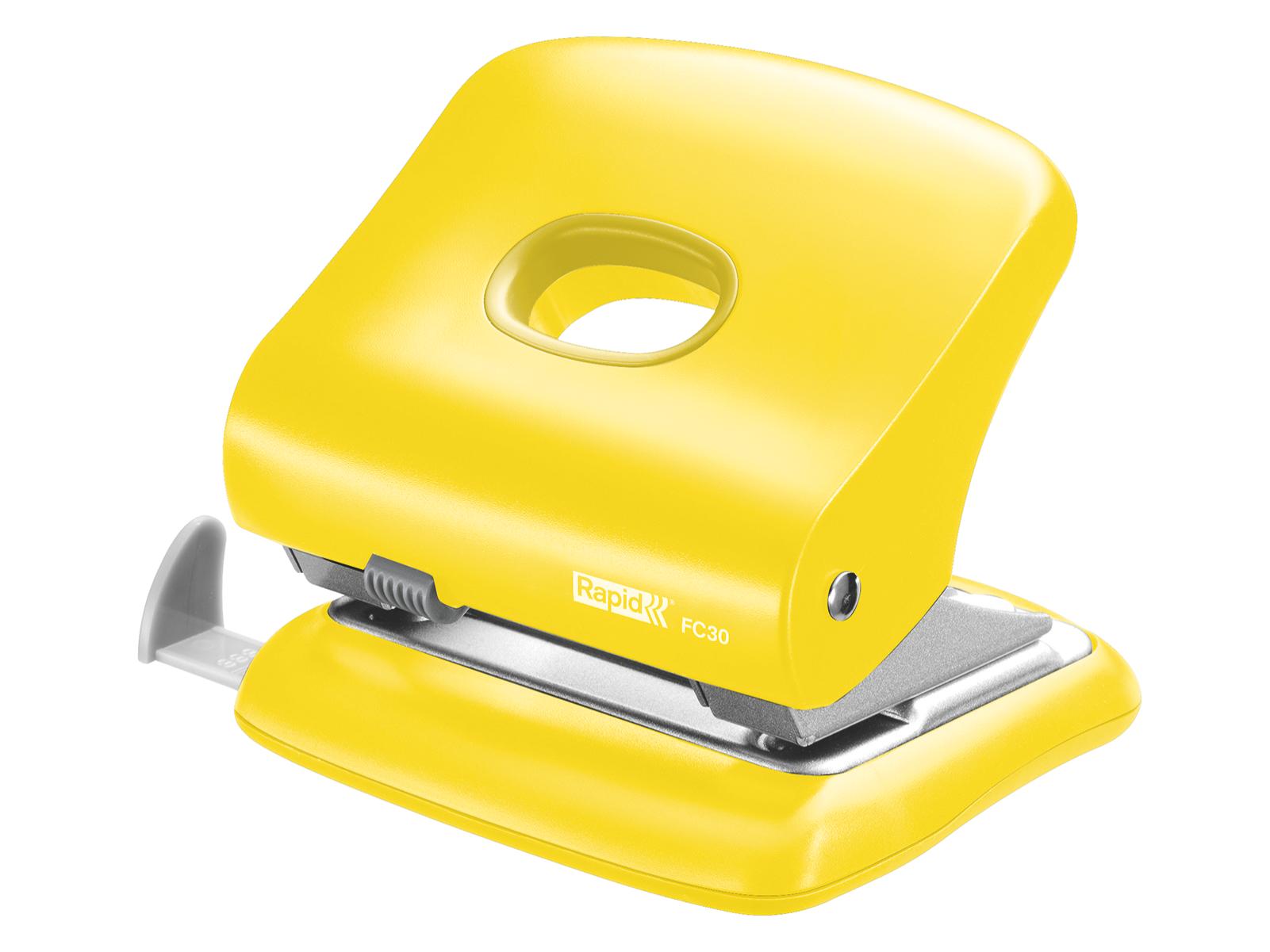 Yellow Punch Hole Machine