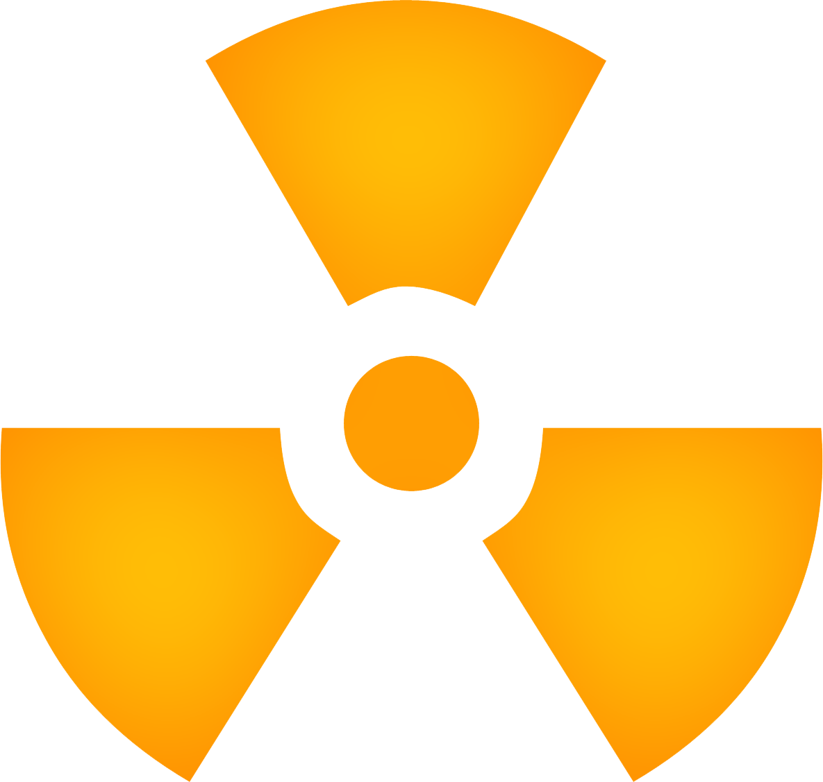 Yellow Radiation Sign PNG Image