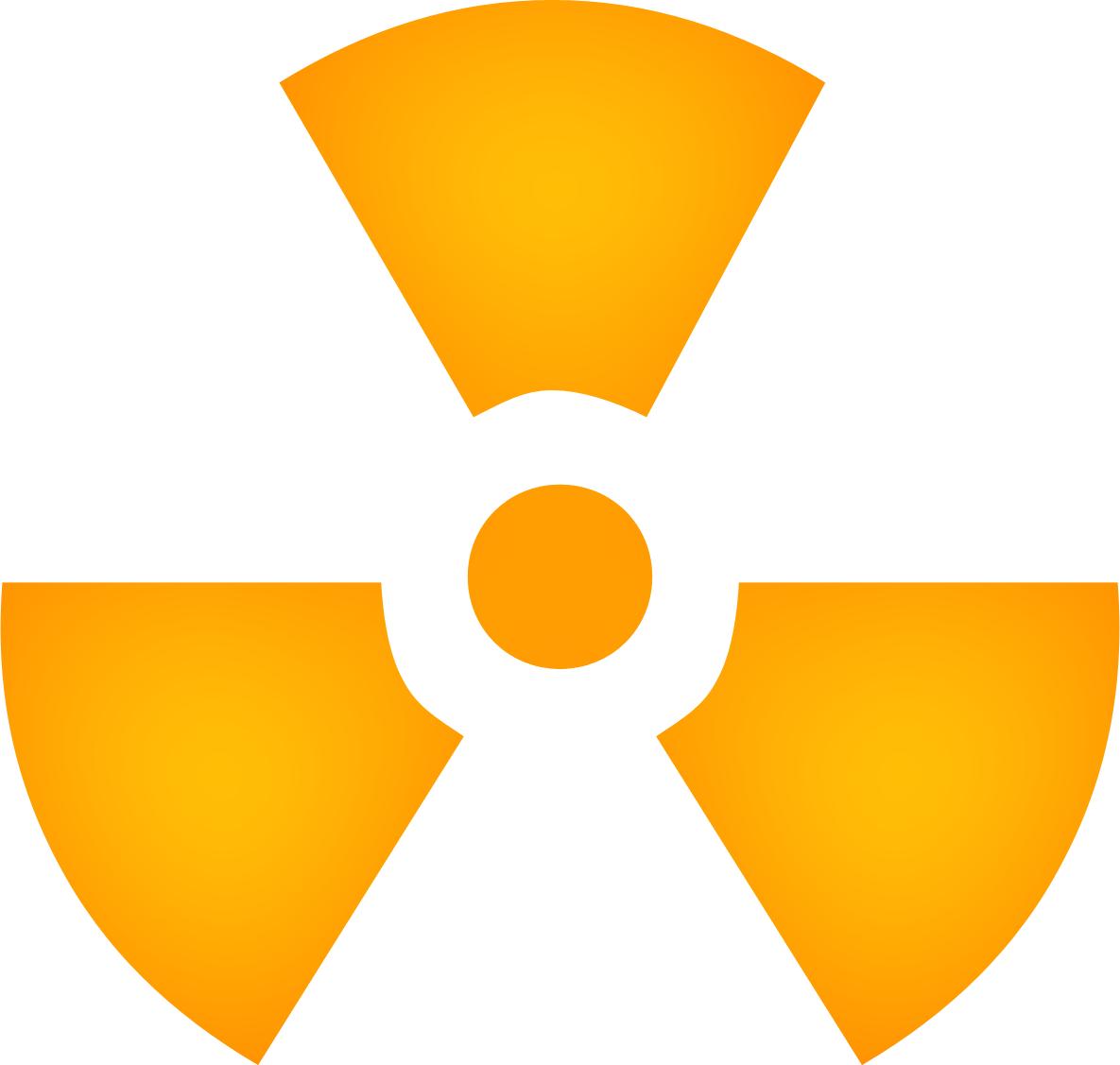Yellow Radiation Sign