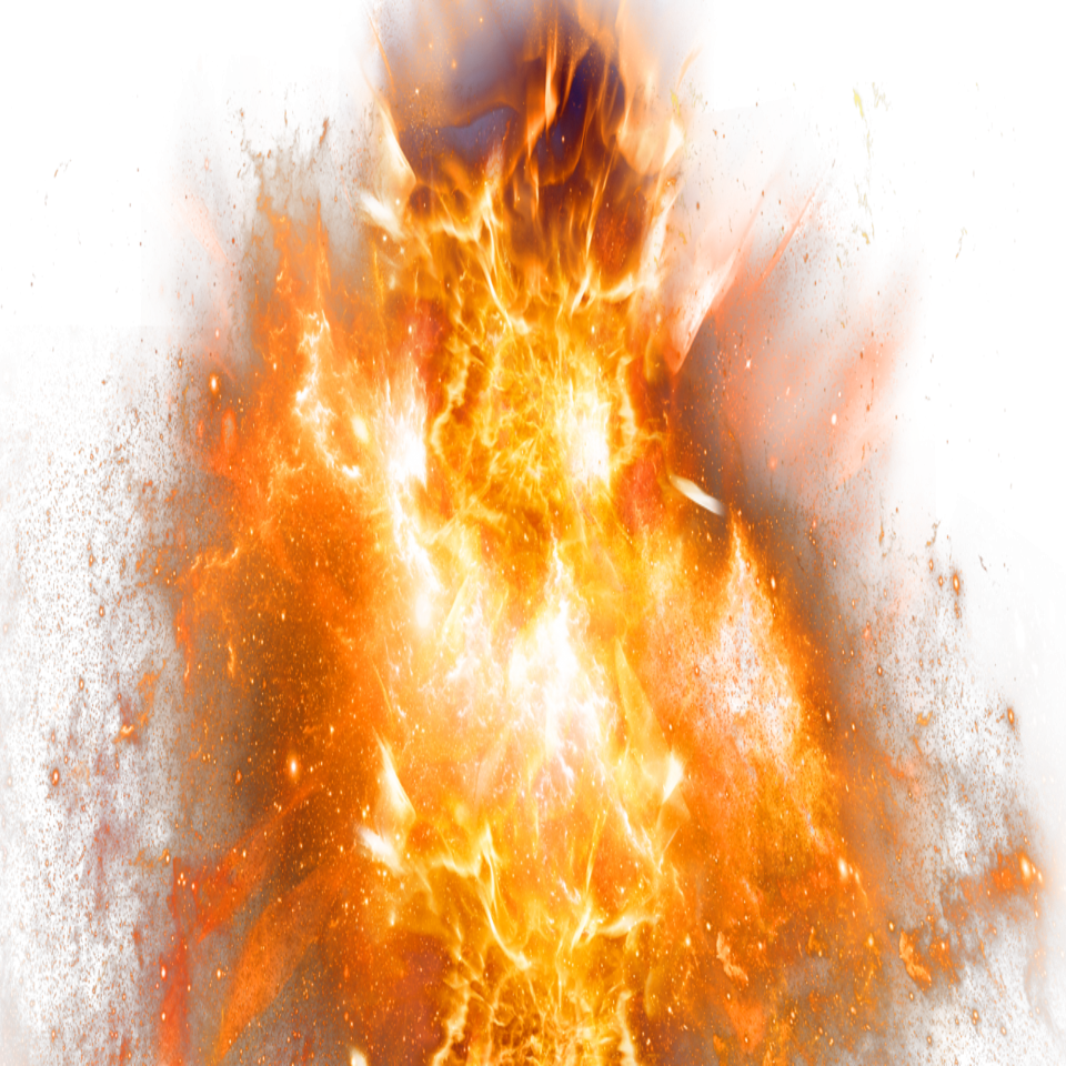 Fire Flame Sparkling Explosion PNG Image
