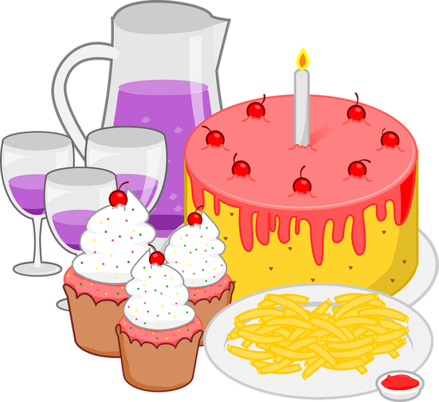 childrens birthday meal PNG Image