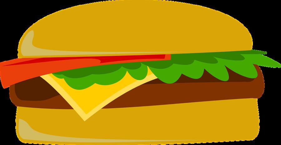 Cartoonish Hamburger PNG Image