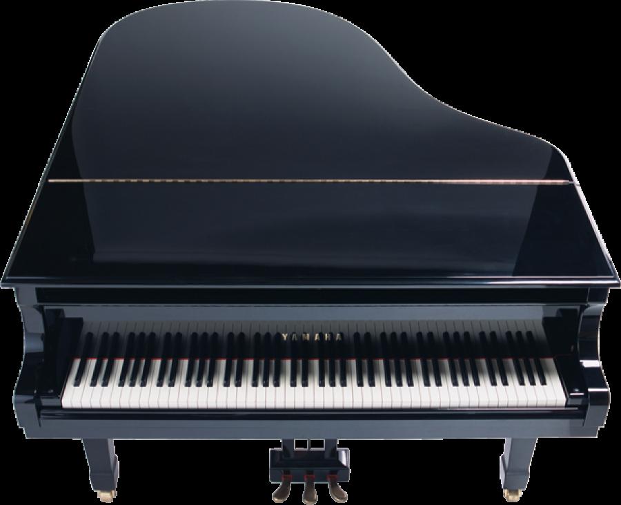 Black yamaha Piano PNG Image