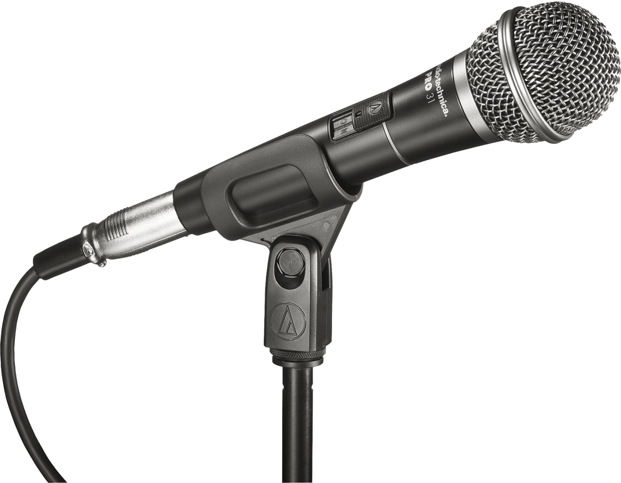 Black audio Microphone PNG Image
