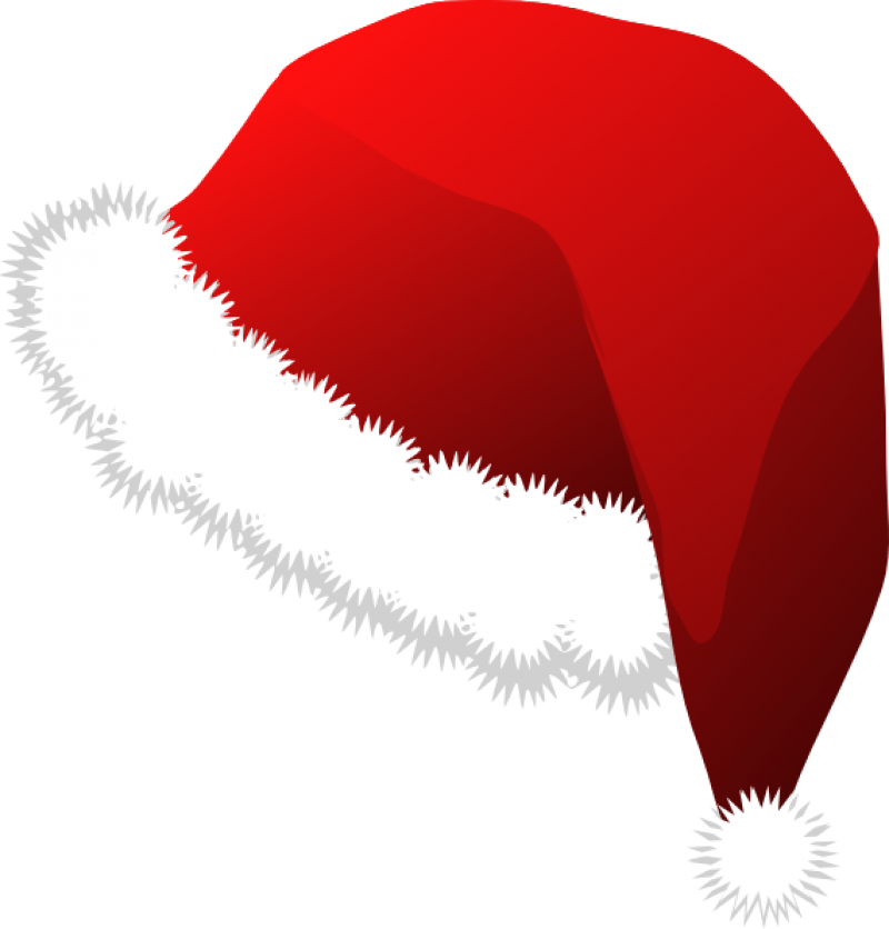 Fluffy Red Christmas Hat PNG Image