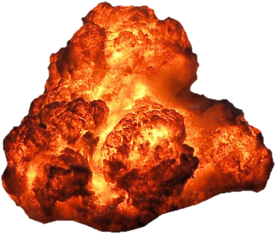 Big Bright Fire Explosion Hot PNG Image