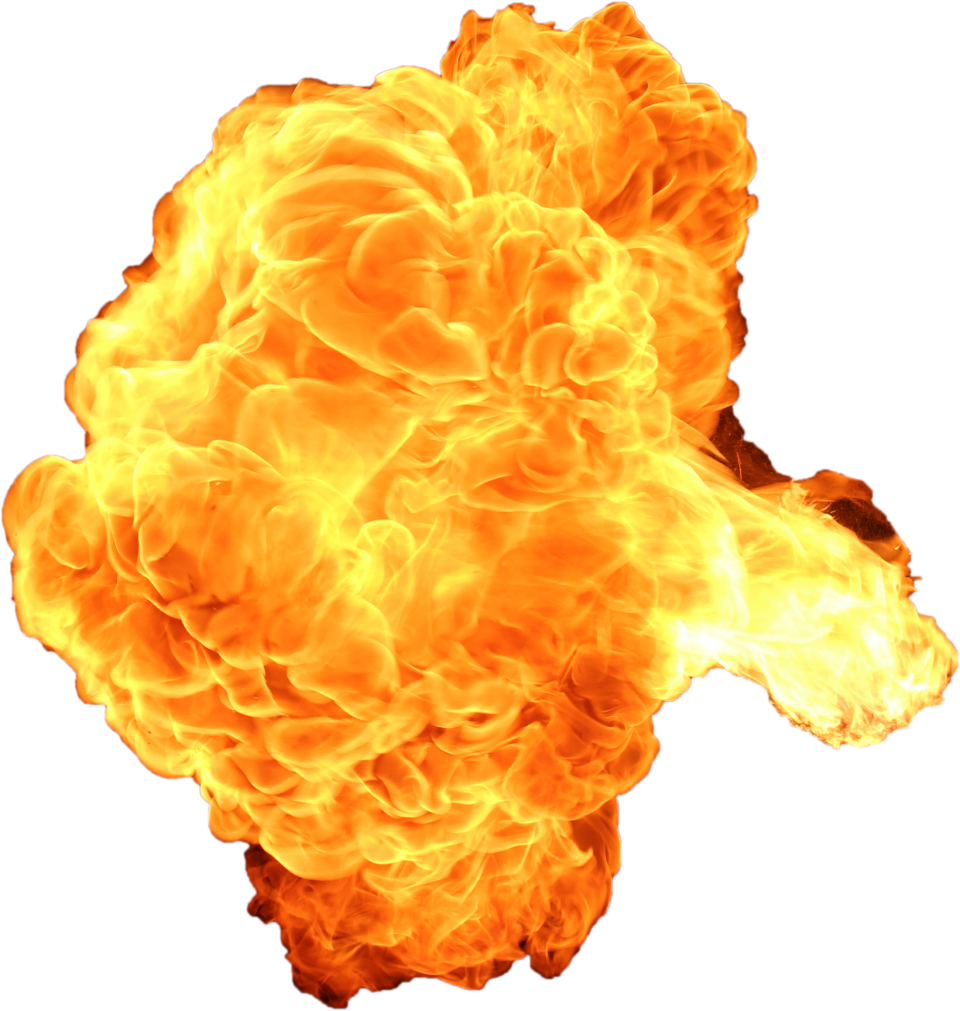 Giant Hot Firebomb Explosion PNG Image
