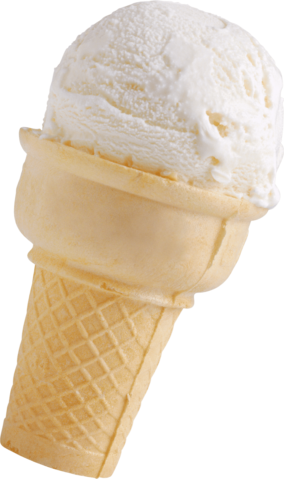 Vanilla Small Horn Ice Cream PNG Image