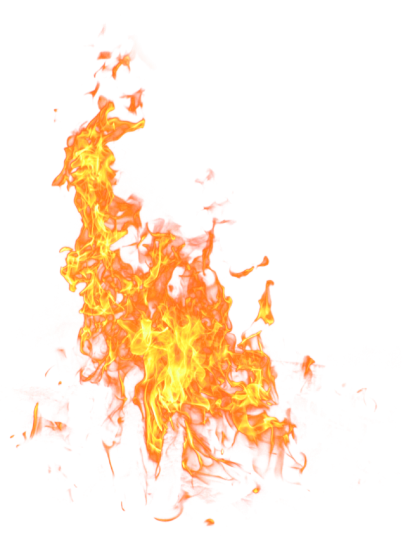 Bright Big Fire Flame PNG Image