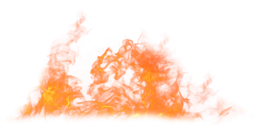 Blaze Fire Flame on the Ground PNG Image
