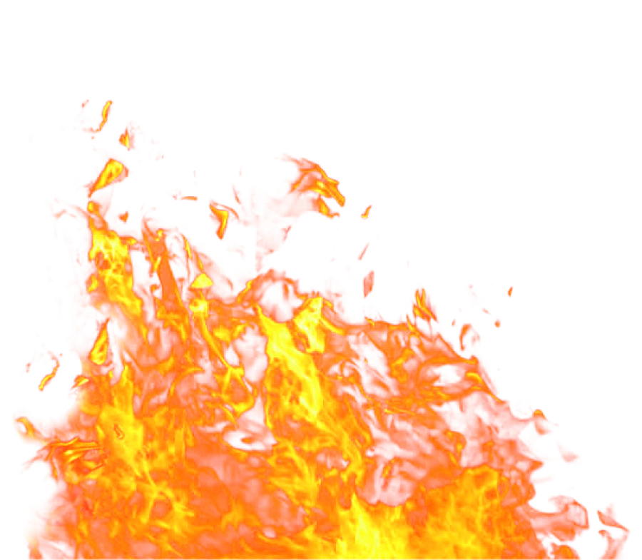 Fire Flame on Ground Big PNG Image