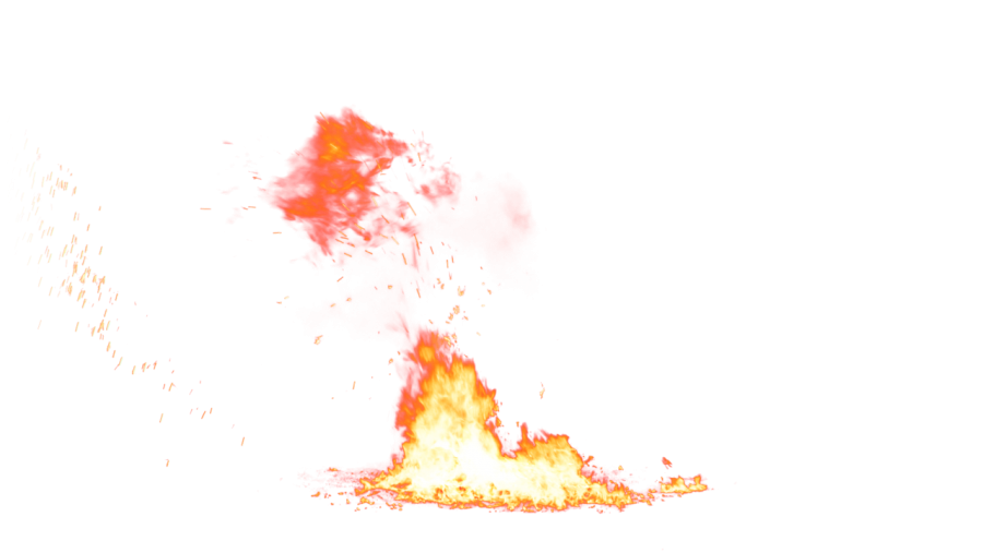 Small Fire on the Ground PNG Image