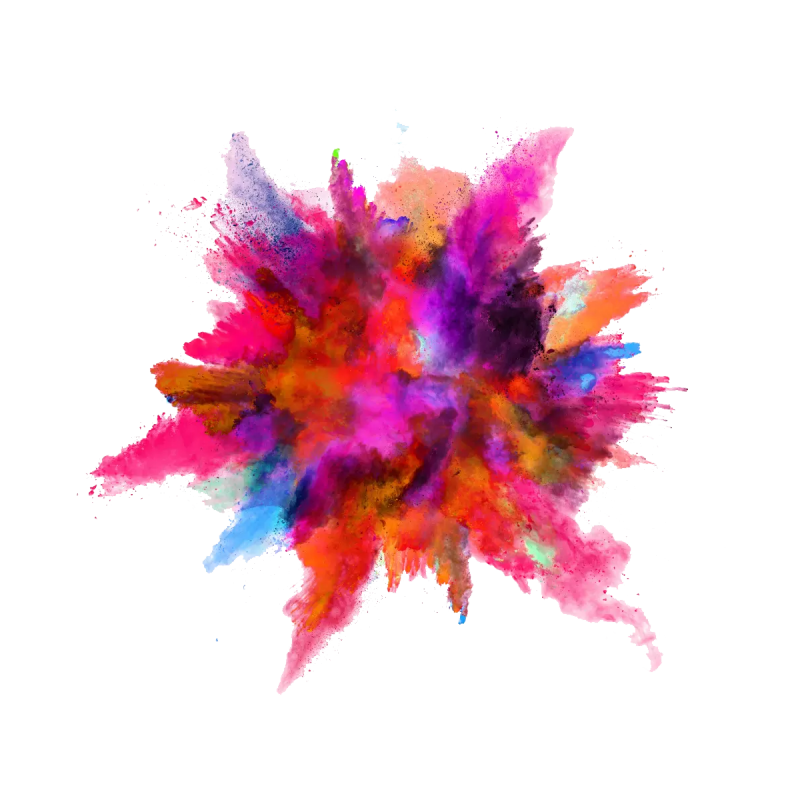 Color Powder Explosion PNG Image
