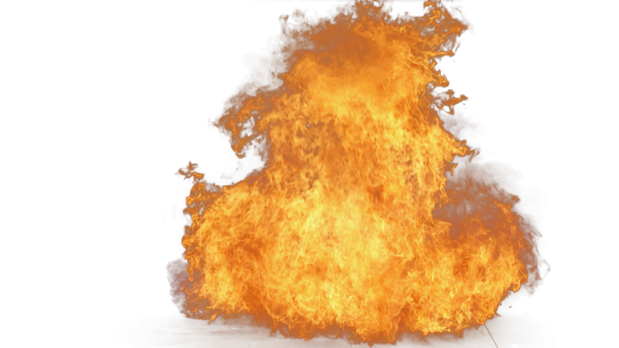 Big Yellow Fire PNG Image