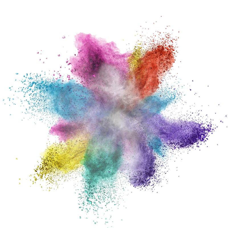 Colorful Powder Explosion PNG Image