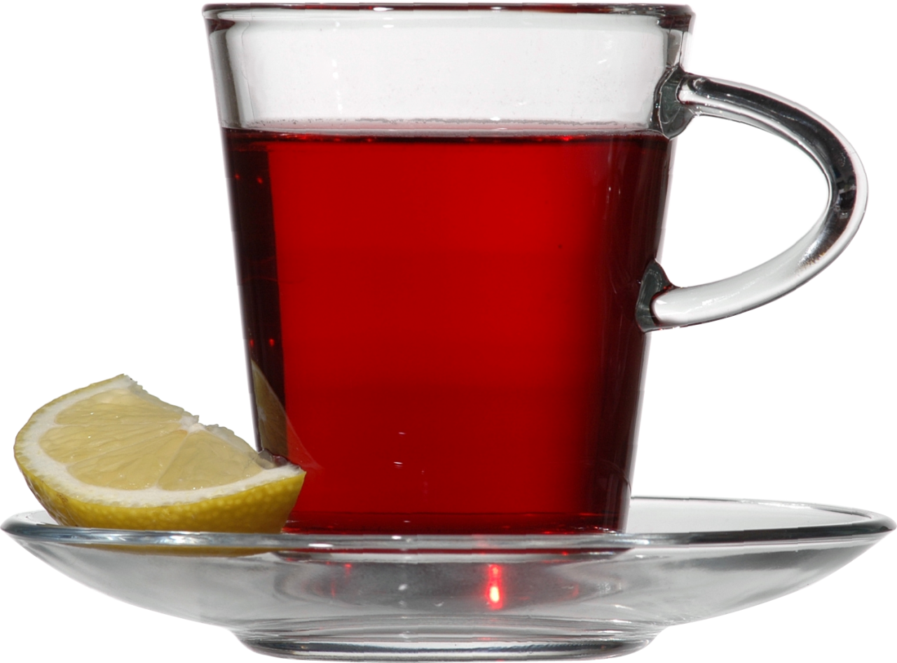 Red Tea with Lemon PNG Image