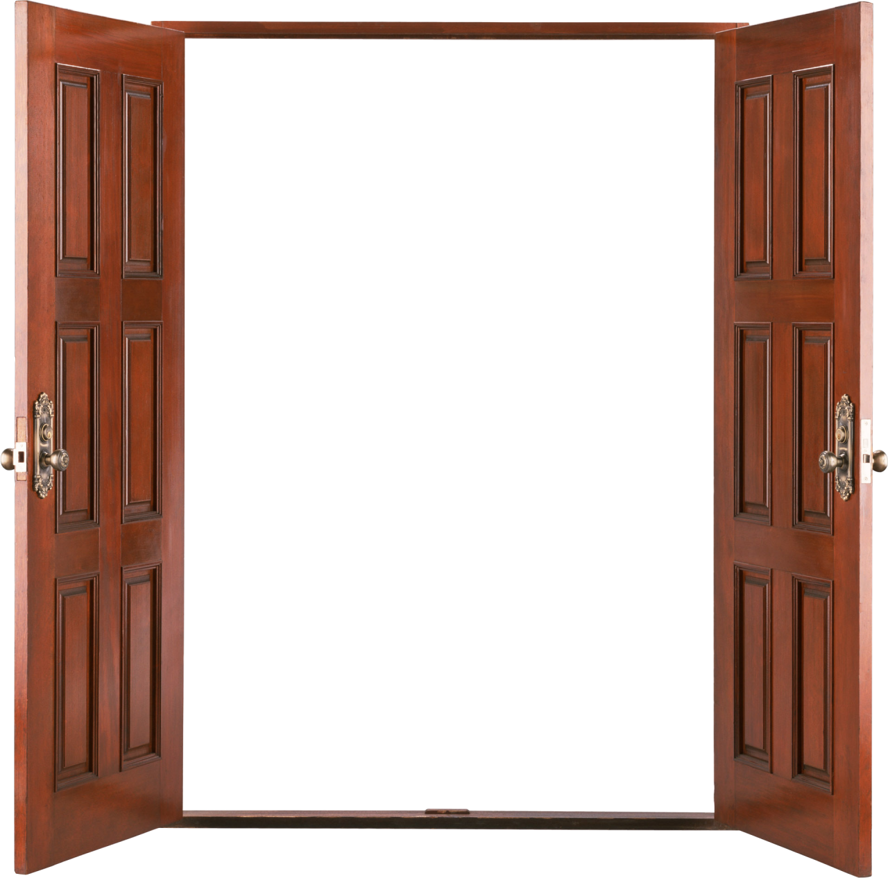 Open wooden door PNG Image