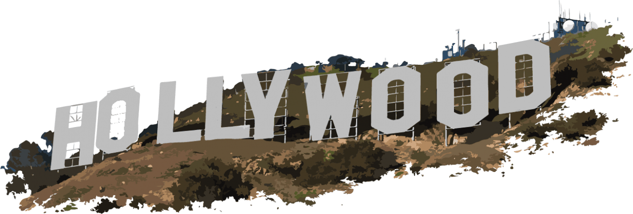 Hollywood Letters PNG Image
