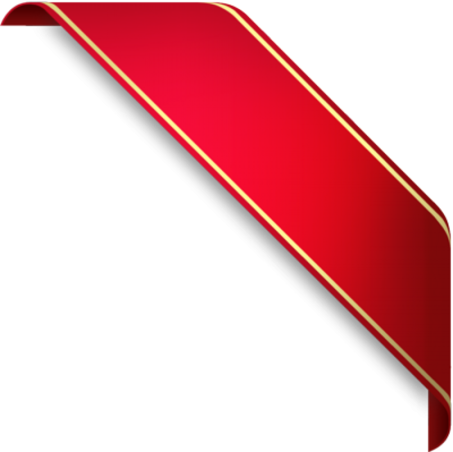 Classic Red Ribbon PNG Image