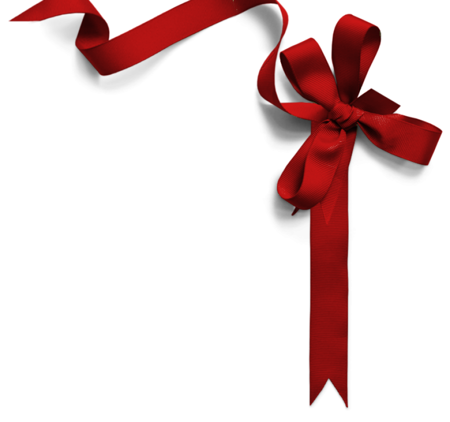 Red Festive Ribbon PNG Image