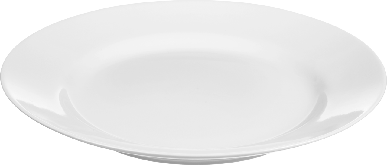 White Basic Plate PNG Image