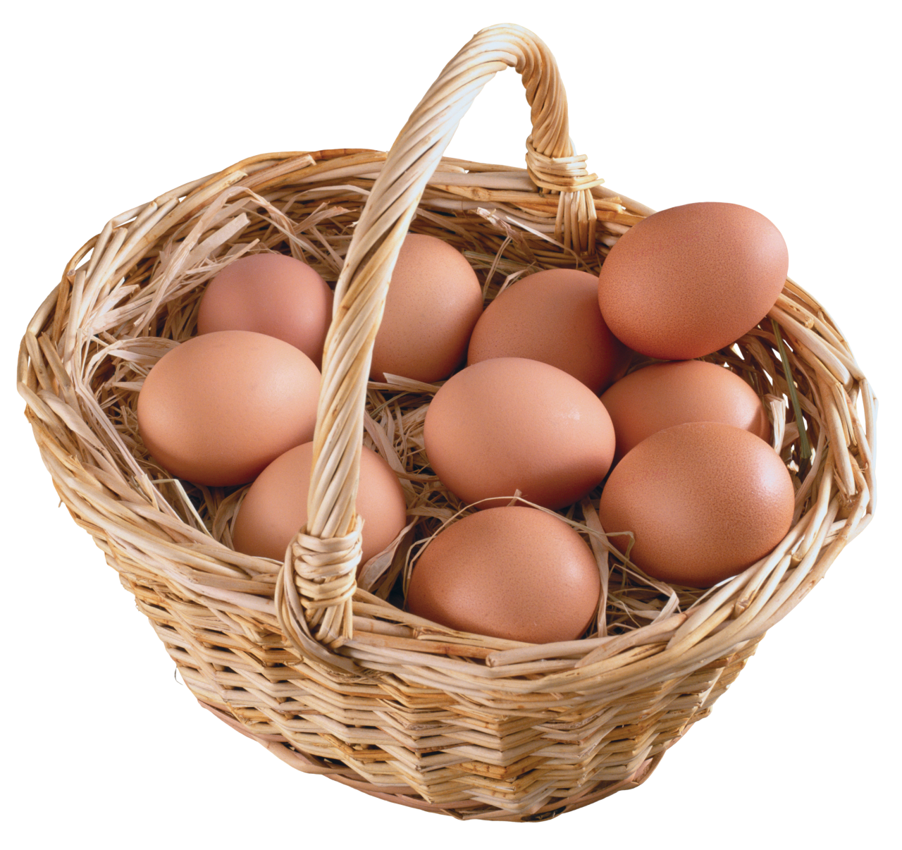 Basket  Full of eggs PNG Image