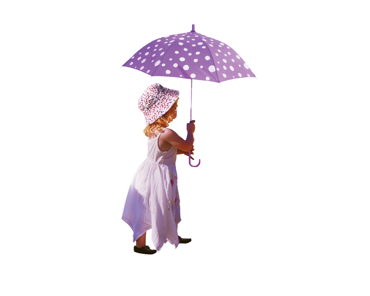 A girl with an umbrella PNG Image