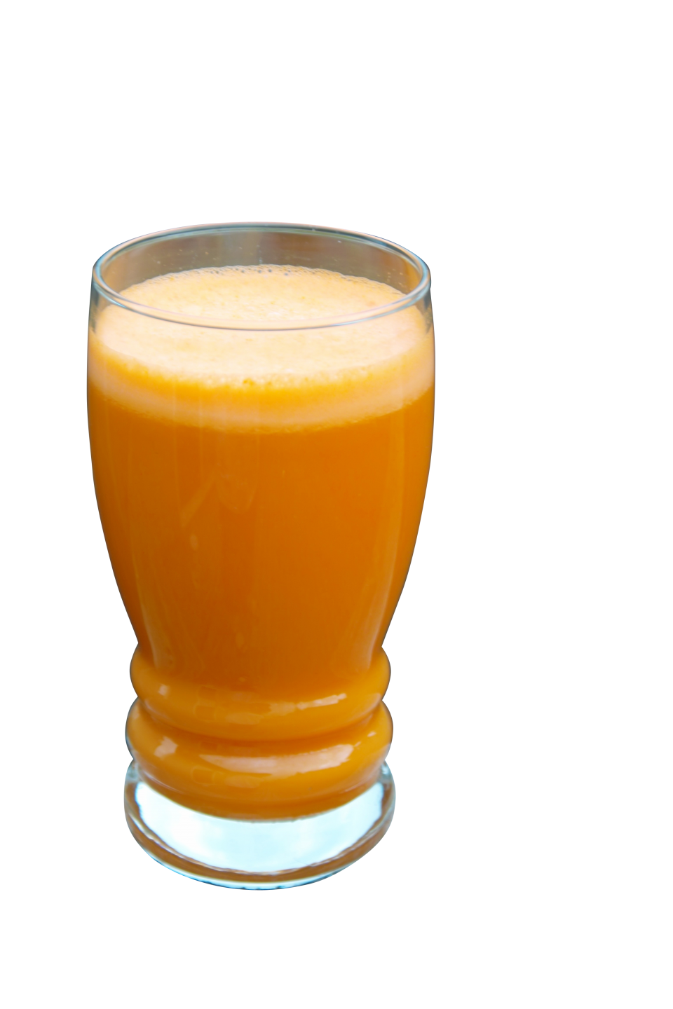A Glass Filled with Orange Carrot Juice PNG Image