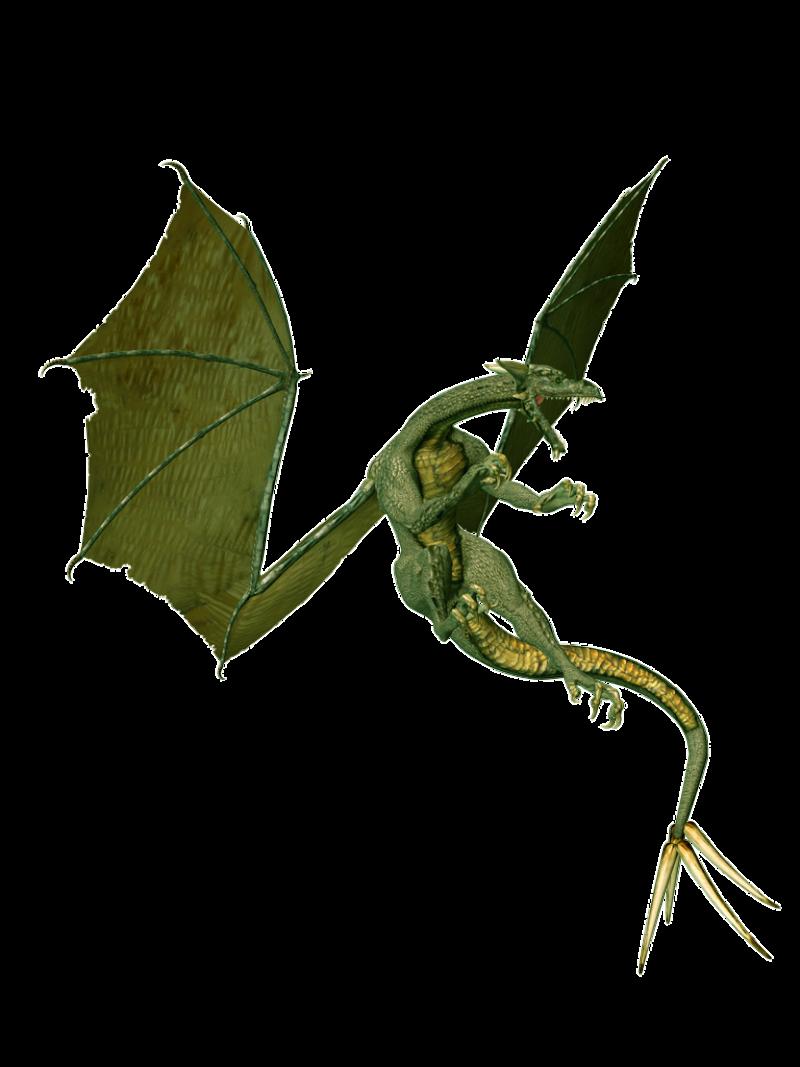 Angry Green Dragon PNG Image