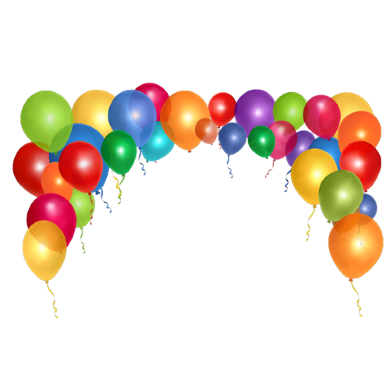 Multicolor Balloon Bow PNG Image