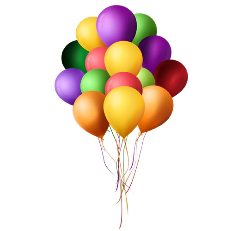 Many Multicolored Balloons PNG Image