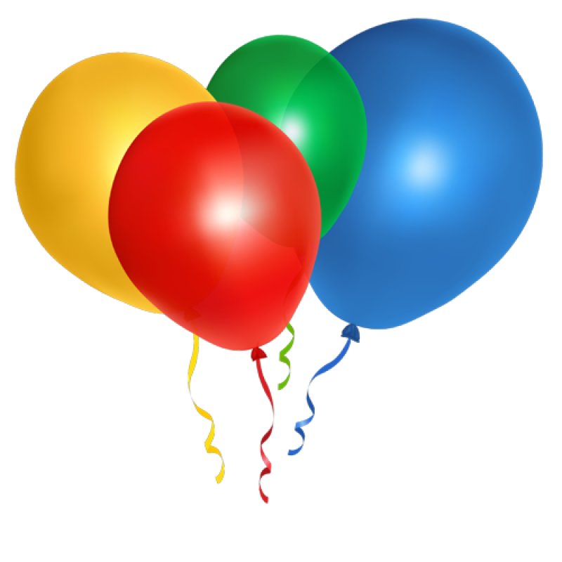 Muticolored Ballons Flying PNG Image