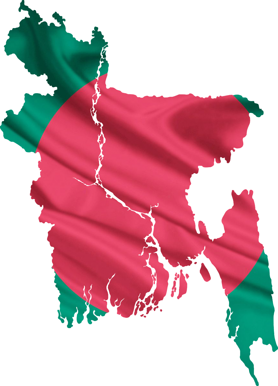 Bangladesh flag & map PNG Image