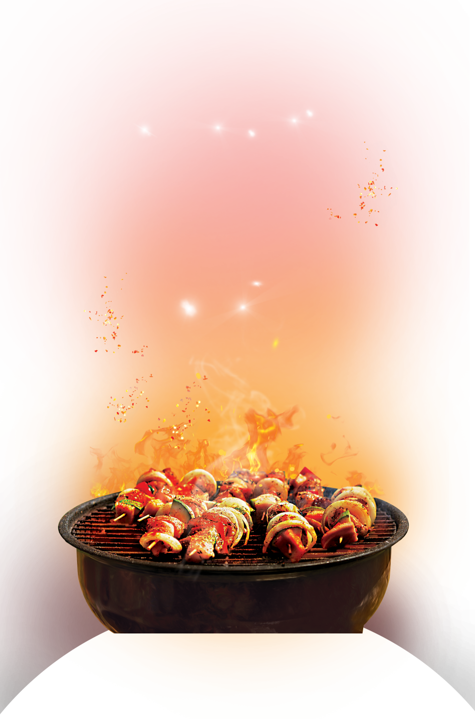 Barbecue cook on Grill PNG Image